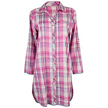 Buy Cyberjammies Isabel Check Nightshirt, Pink / White Online at johnlewis.com