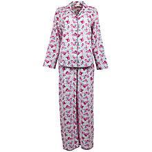 Buy Cyberjammies Isabel Floral Pyjama Set, Pink / White Online at johnlewis.com