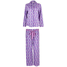 Buy Cyberjammies Ayla Floral Pyjama Set, Purple Online at johnlewis.com