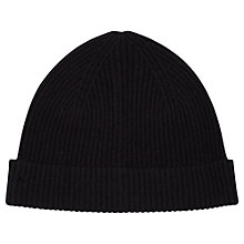 Buy Aquascutum Felix Ribbed Cashmere Hat, One Size Online at johnlewis.com