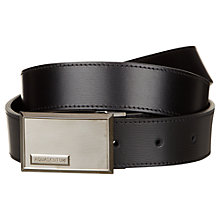 Buy Aquascutum Palmellato Leather Belt, Black Online at johnlewis.com