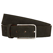 Buy Aquascutum Alaska Suede Belt, Green Online at johnlewis.com