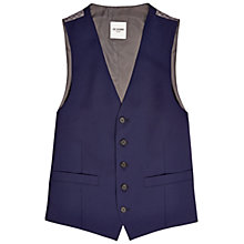 Buy Ben Sherman Tailoring Camden Fit Mohair Tonic Waistcoat, Medieval Blue Online at johnlewis.com