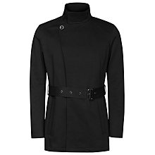 Buy Reiss Tornado Belted Funnel Neck Jacket, Black Online at johnlewis.com