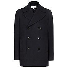 Buy Reiss Roman Wool Rich Peacoat, Navy Online at johnlewis.com