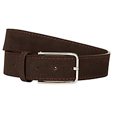 Buy Aquascutum Alaska Suede Belt, Brown Online at johnlewis.com