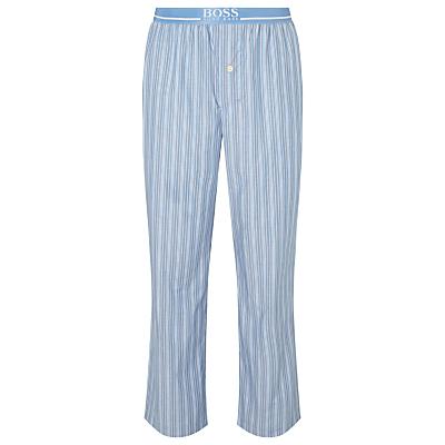 BOSS Cotton Striped Pyjamas, Blue