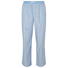 Buy BOSS Cotton Striped Pyjamas, Blue Online at johnlewis.com