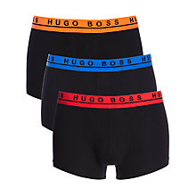 Buy BOSS Stretch Cotton Trunks, Pack of 3 Online at johnlewis.com