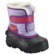 Buy Sorel Snow Commander Snowboots, Whitened Violet/Corange Online at johnlewis.com