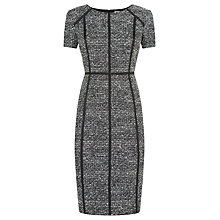 Buy Planet Textured Shift Dress, Black/Ivory Online at johnlewis.com