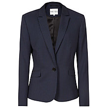 Buy Reiss Sullivan Fitted Pinstripe Blazer, Blue/Black Online at johnlewis.com