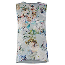 Buy Warehouse Crystal Floral Shell Top, Blue Online at johnlewis.com