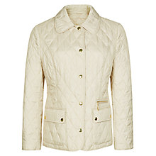 Buy Precis Petite Quilted Jacket, Champagne Online at johnlewis.com