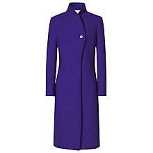 Buy Reiss Emile Wrapped Collar Slimline Coat, Blue Passion Online at johnlewis.com
