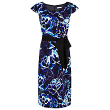 Buy Jacques Vert Floral Print Dress, Cobalt Online at johnlewis.com