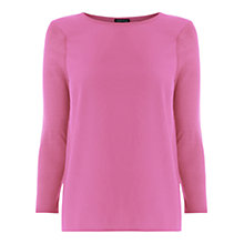 Buy Warehouse Woven Front Panel Jumper, Bright Pink Online at johnlewis.com
