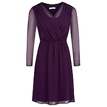 Buy Kaliko Wrap Front Tunic Dress, Dark Purple Online at johnlewis.com