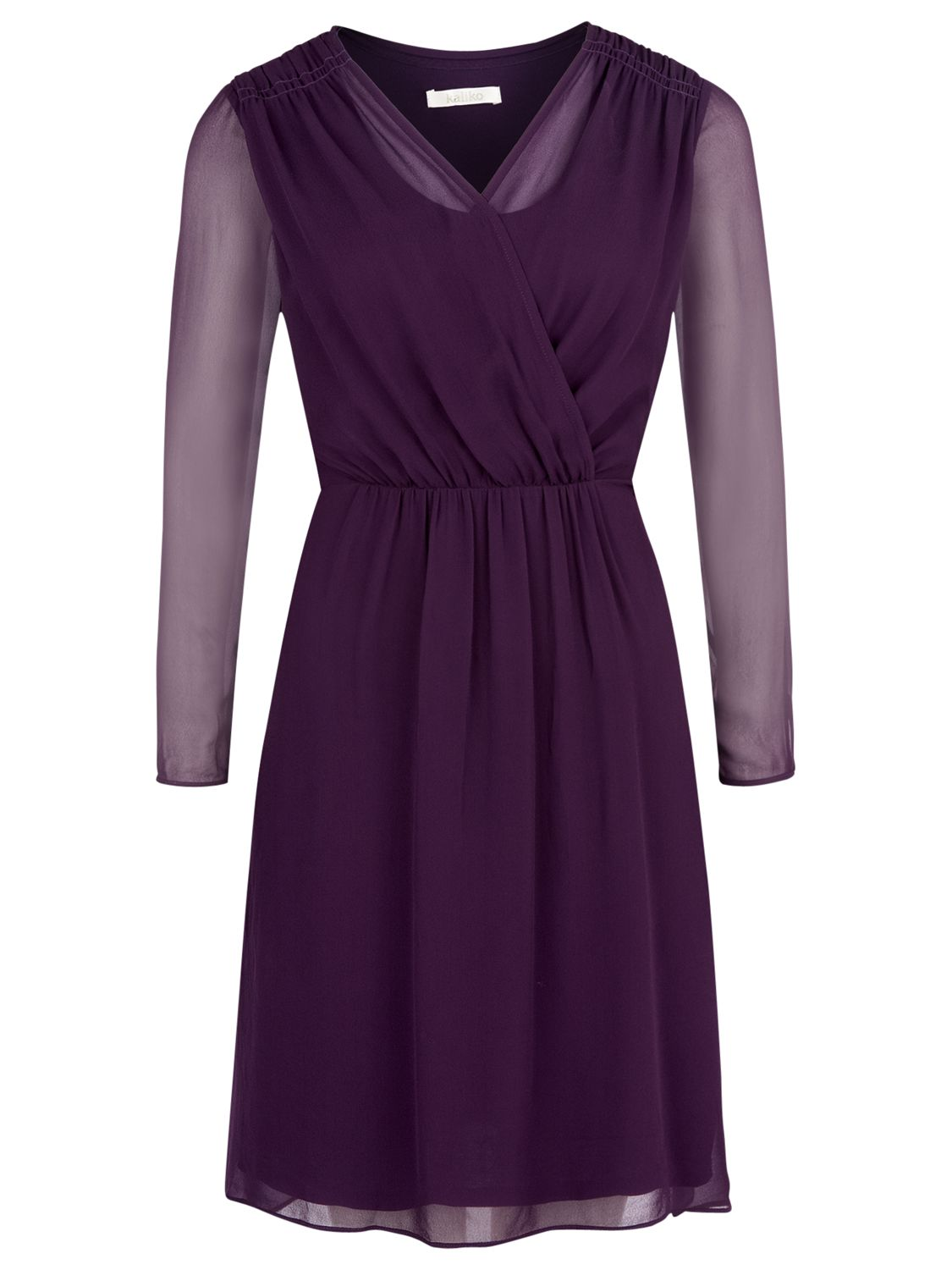 kaliko wrap front tunic dress dark purple, kaliko, wrap, front, tunic, dress, dark, purple, 14|16|10|12, clearance, womenswear offers, womens dresses offers, special offers, 20% off selected kaliko, new years party offers, women, plus size, inactive womenswear, new reductions, womens dresses, 1693975