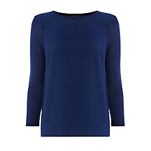 Buy Warehouse Plain Woven Front Jumper, Midnight Online at johnlewis.com