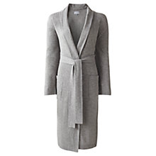 Buy Jigsaw Long Pocket Robe, Light Grey Online at johnlewis.com