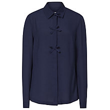 Buy Reiss Bea Bow Embellished Shirt, Navy Online at johnlewis.com