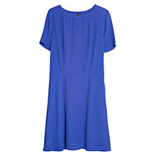 Buy Mango Cut-Out Back Dress, Medium Blue Online at johnlewis.com