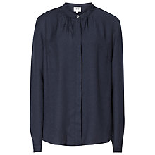 Buy Reiss Yara Fluid Clean Cut Blouse, Navy Online at johnlewis.com