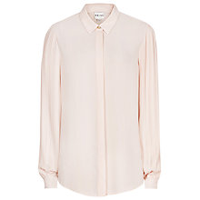 Buy Reiss Lara Fluid Pleated Shirt, Oyster Online at johnlewis.com