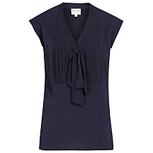 Buy Reiss Rhodium Softly Pleated Top, Navy Online at johnlewis.com