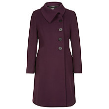 Buy Precis Petite Asymmetric Coat, Plum Online at johnlewis.com
