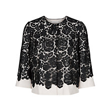 Buy Jacques Vert Luxury Lace Layer Jacket, Multi Black Online at johnlewis.com