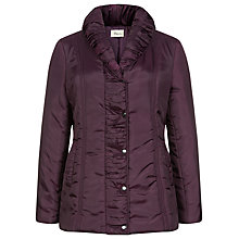 Buy Precis Petite Ruched Collar Coat, Purple Online at johnlewis.com