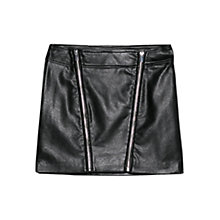 Buy Mango Faux Leather Skirt, Black Online at johnlewis.com