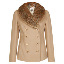 Buy Precis Petite Fur Collar Coat, Camel Online at johnlewis.com