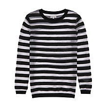 Buy Reiss Alba Stripe Knit Jumper, Black/White Online at johnlewis.com