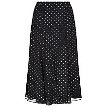 Buy Jacques Vert Spot Print Panel Skirt, Black Online at johnlewis.com