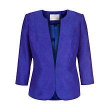 Buy Jacques Vert Elegant Collarless Jacket, Cobalt Online at johnlewis.com