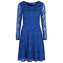 Buy Kaliko Lace Skater Dress, Cobalt Online at johnlewis.com