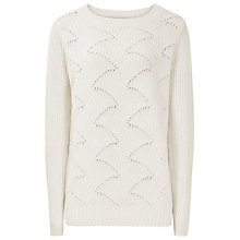 Buy Reiss Moss Ribbed Jumper, Cream Online at johnlewis.com