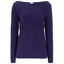 Buy Reiss Liberty Chunky Rib Cotton Jumper, Blue Passion Online at johnlewis.com