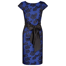Buy Jacques Vert Rose Jacquard Dress, Cobalt Online at johnlewis.com