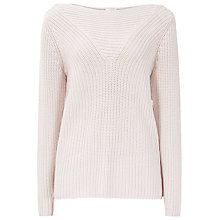 Buy Reiss Liberty Textured Rib Jumper, Oyster Online at johnlewis.com