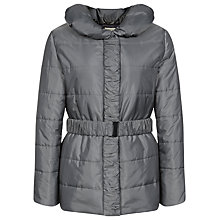 Buy Precis Petite Ruched Padded Coat. Silver Online at johnlewis.com
