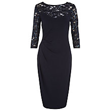 Buy Planet Lace Jersey Dress, Navy Online at johnlewis.com