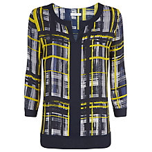 Buy Windsmoor Check Tunic Top, Navy Online at johnlewis.com