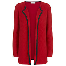 Buy Windsmoor Open Front Textured Cardigan, Red Online at johnlewis.com