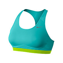 Buy Nike Pro Core Fierce Compression Sports Bra, Dusty Cactus/Volt Online at johnlewis.com