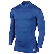 Buy Nike Pro Combat Core 2.0 Long Sleeve Compression Top, Blue Online at johnlewis.com
