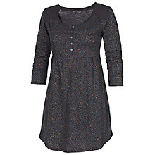 Buy Fat Face Autumn Leaf Tunic Dress, Black Online at johnlewis.com